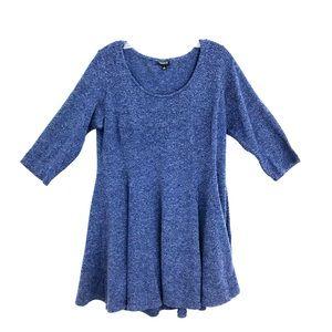 Torrid skater mini dress tunic knit stretch flare